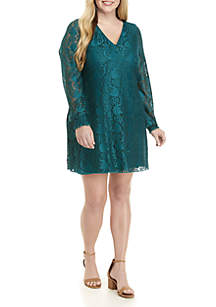Plus Size A-Line Lace Dress