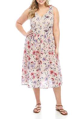 93d8493a60d Wonderly Plus Size Diamond Dobby Print Maxi Dress ...