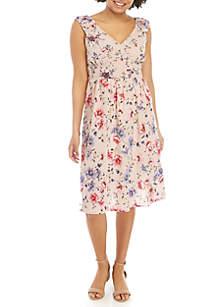 Wonderly Mix Print Midi Dress