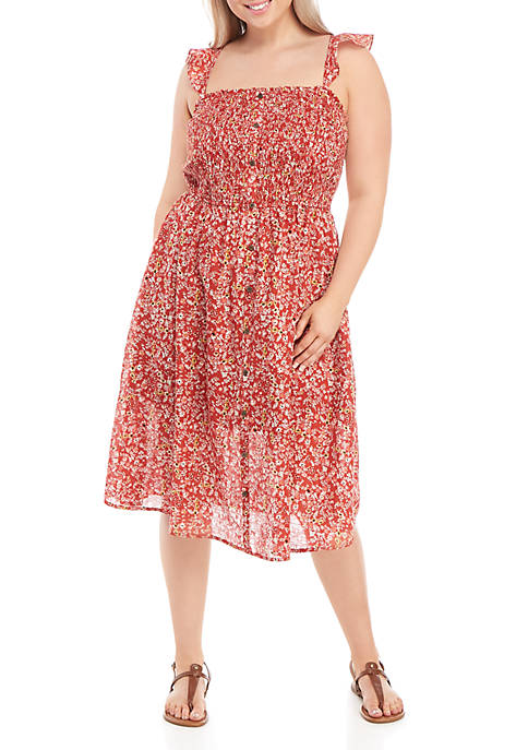 Plus Size Smocked Tank Dress
