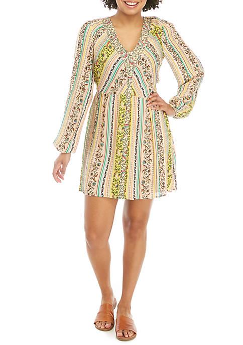 Long Sleeve Button Front Dress
