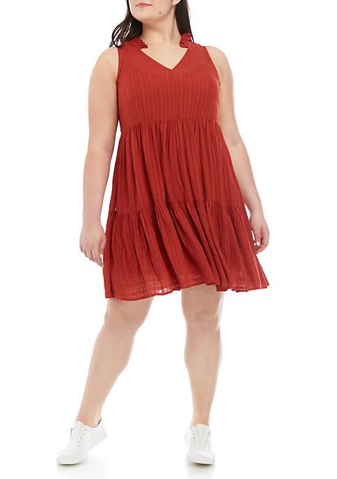 Plus Size Sleeveless Tiered Dress