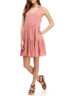 Wonderly Sleeveless Tiered Dress
