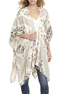 Metallic Embroidered Kimono
