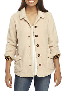 Cozy Button Front Jacket