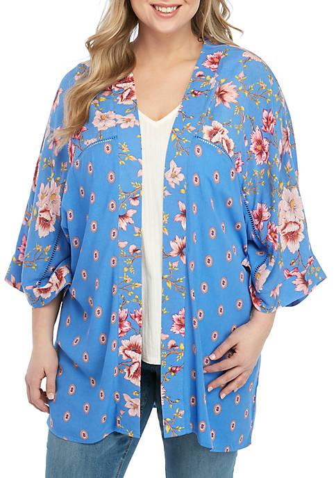 Plus Size Kimono Top