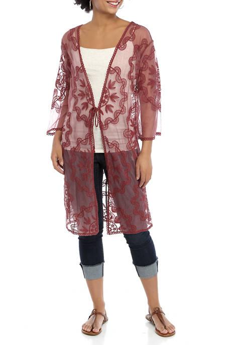 Juniors Lace Kimono