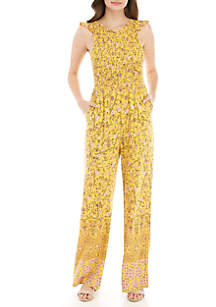 Wonderly Smocked Jumpsuit