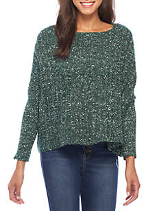 Dolman Sleeve Knit Pullover Sweater