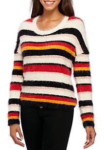 Multi-Stripe Crew Sweater