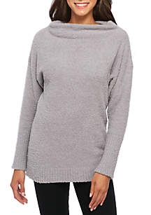 Mock Neck Long Sleeve Tunic Sweater