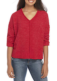 Wonderly Chunky V-Neck Pullover Sweater