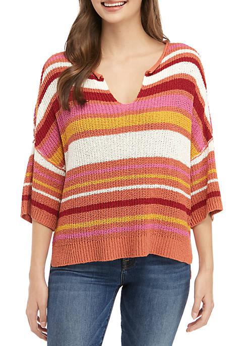 Short Sleeve Boxy Sweater
