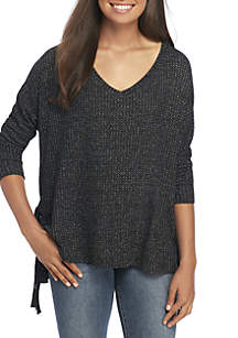 Lurex Lace-up Thermal Tunic