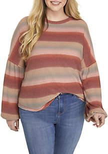 Plus Size Balloon Sleeve Sweater