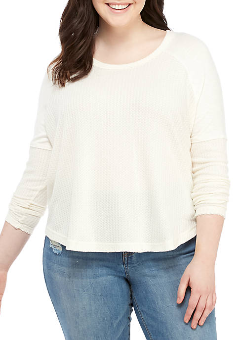 Plus Size Long Sleeve Thermal Top