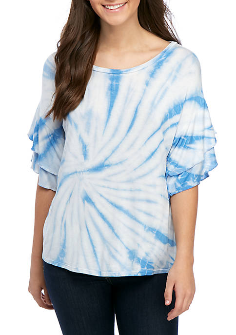 Oversized Ruffle T Shirt