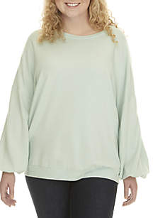 Plus Size Long Sleeve Sweatshirt
