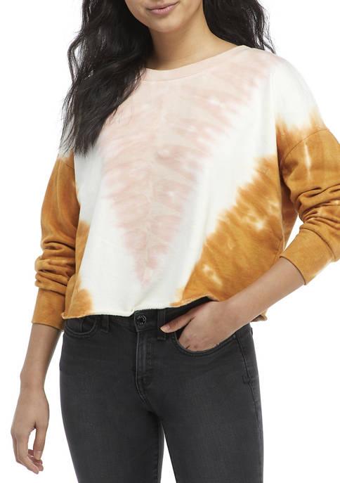 Juniors Long Sleeve Cozy Fleece Top