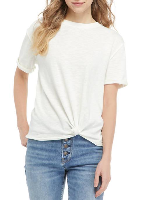 Juniors Short Sleeve Cuffed T-Shirt
