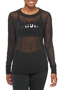 Mesh Graphic Top