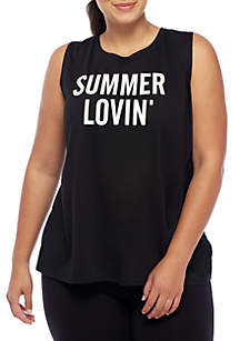 Plus Size Summer Lovin' Graphic Tank