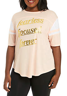 Plus Size Fearless Graphic Tee