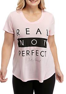 ZELOS Plus Size Graphic T-Shirt