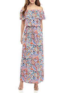 00bbc1949b Maxi Dresses: Floral, Long Sleeve, Off-the-Shoulder & More | belk