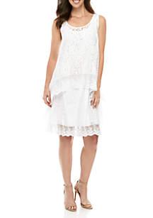 Cupio Crochet Tiered Dress