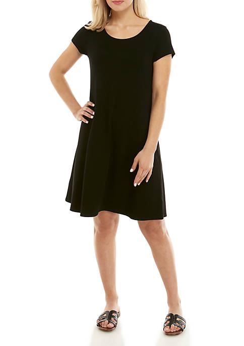 Cupio Womens Juliana Short Sleeve Dress