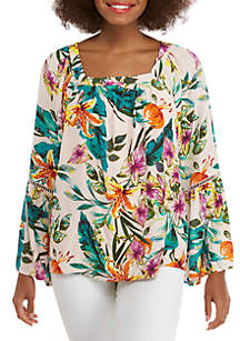 Cupio Tropical Woven Top