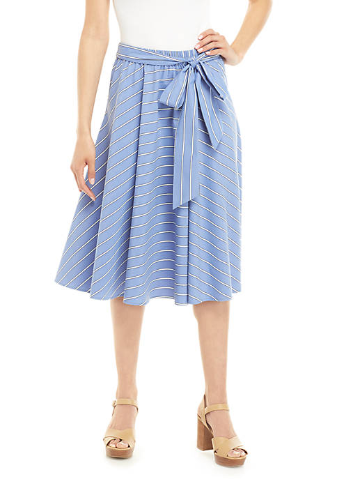Cupio Short Blue White Stripe Skirt
