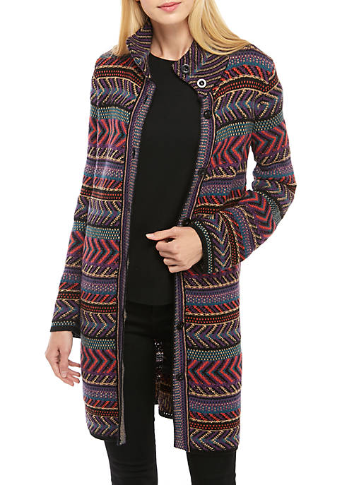 cupio blush Nomadic Button Sweater Coatigan
