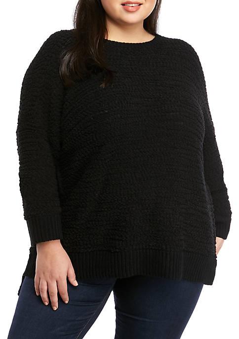 Plus Size Popcorn Pullover