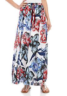 Cupio Long Floral Skirt