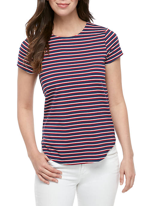 Short Sleeve Stripe T Shirt