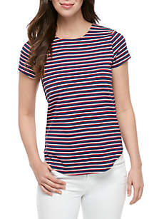 Cupio Short Sleeve Stripe T Shirt