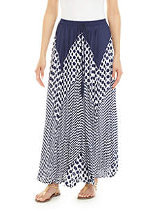 Cupio Long Dot Stripe Skirt