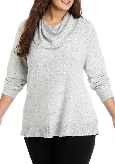 Cupio Plus Size Cowl Neck Dreamsoft Sweater Belk