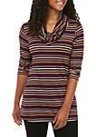 Womens Button Side Stripe Tunic
