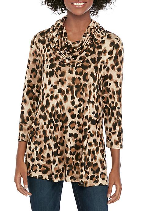 cupio blush Button Side Knit Tunic