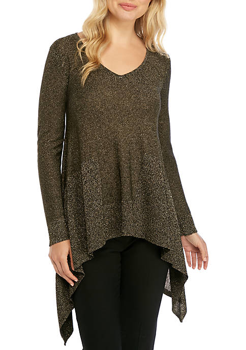 Cupio Long Sleeve High Low Lurex® Sweater