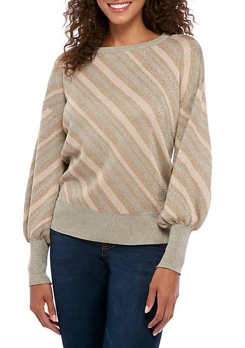 Cupio Womens Multi Stripe Lurex® Sweater