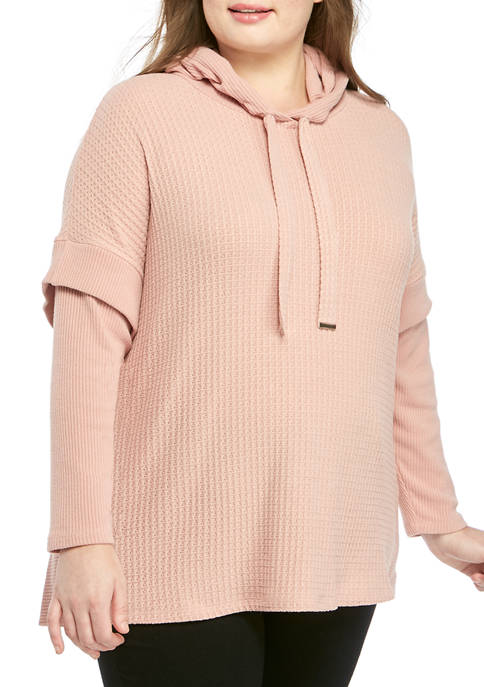 cupio blush Plus Size Cowl Neck Swing Dream