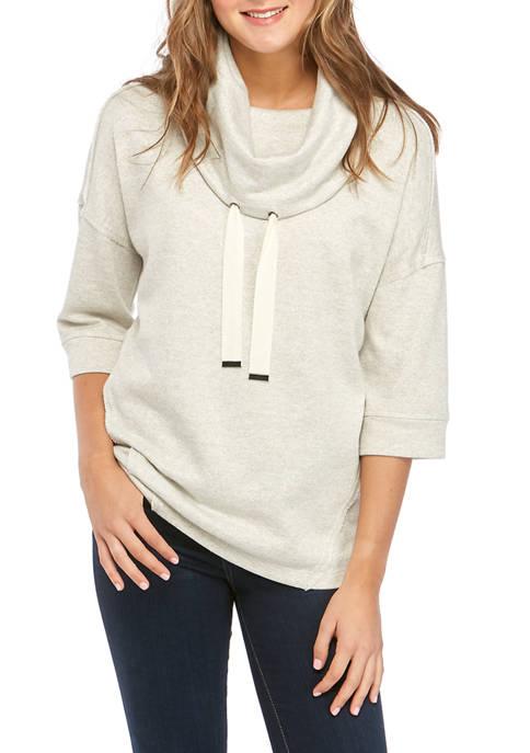 Cupio Womens Cowl Neck LUREX® Sweatshirt
