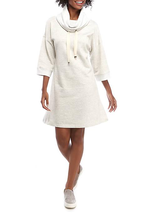 Cupio Dream Soft Cowl Neck Lurex® Dress