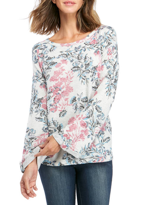 Cupio Womens Floral Print Dream Soft Shirt