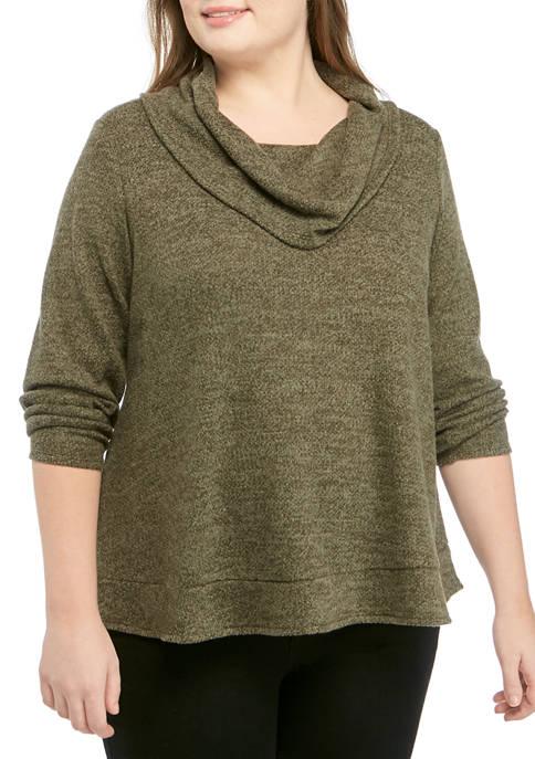 Plus Size Cowl Neck Dream Soft Pullover