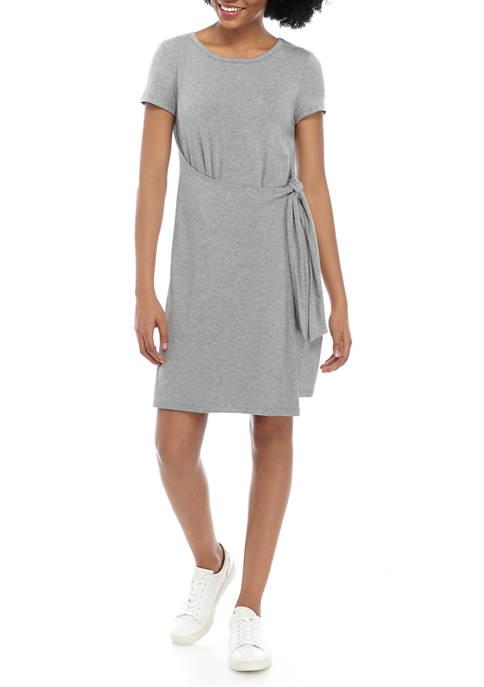 Cupio Womens Short Sleeve Side Tie Dress